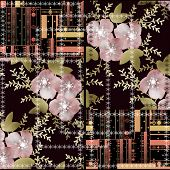 Patchwork Seamless Abstract Pattern Background