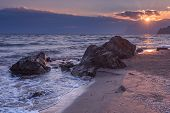 foto of crimea  - Black sea landscape in Crimea - JPG