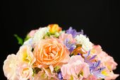 Pastel Spring Flower Wedding Bouquet