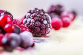 pic of frozen  - Frozen forest fruits on an ice cream - JPG