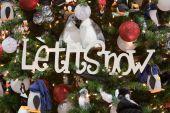 Let It Snow Christmas Tree Ornament