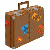 Large suitcase for travel. illustration.