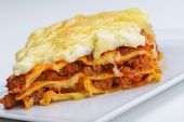 stock photo of lasagna  - Close - JPG