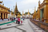 Rangoon, Myanmar - 11 October 2013 : Shwedagon Pagoda In Rangoon.