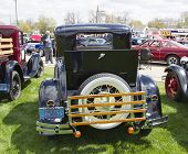 1930 Ford Model A Car Rear View