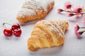 Croissant On White