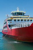 Big red passenger ferry