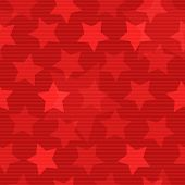 Red seamless background with stars