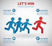 let's Win. People Running For Leader