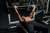 Weightlifter On Bench Press
