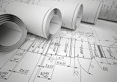 Several scrolls engineering drawings
