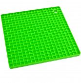 Green Kitchen silicone placemat stand for a hot dishes close up isolated on white background