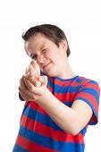 Teenage Boy (causian), Aiming, Pointing At Camera