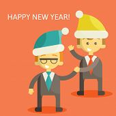 Partners in Business congratulate each other on Christmas and New Year