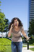 Furious Woman Shouting Phone