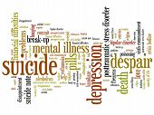 pic of suicide  - Suicide and depression issues and concepts word cloud illustration - JPG