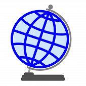 Globe on a white background.