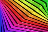Colorful Rainbow Abstract Background Of Stacked Glass Planes