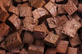 Delicious brownies background