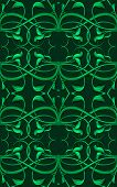 Green Fantasy Seamless Pattern With Original Foliage Elements For Various Decor.