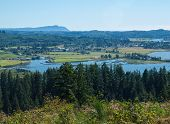 picture of coxcomb  - A View of the Astoria Oregon Area from Coxcomb Hill the Location of the Astoria Column - JPG