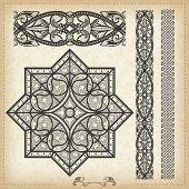 Vector vintage baroque border frame card cover