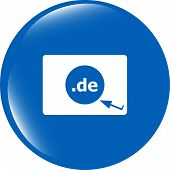 Domain De Sign Icon. Top-level Internet Domain Symbol