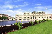 Belvedere palace, Vienna, Austria. Summer day