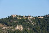 picture of cleopatra  - The castle in Alanya built on the hill above the beach of Cleopatra - JPG