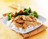 chicken and vegetable teriyaki dish