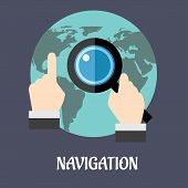 Navigation or search flat concept