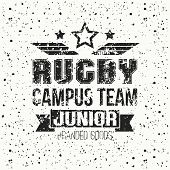College Rugby Junior Team Emblem
