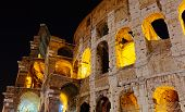 Colosseum in Rome against the night sky