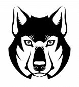 Wolf Face Symbol