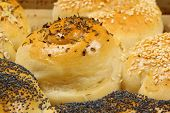 Salty Buns Sprinkled With Herbs And Seeds