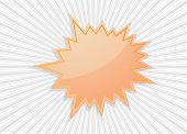 star burst icon banner - abstract background