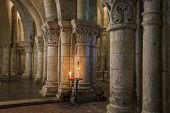 Crypt With Candle In Saintes France