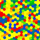 Colorful Geometrical Background - Hexagons
