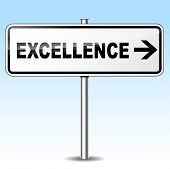 Excellence Directional Sign