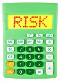 Calculator With Risk On Display Isolated