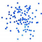 Christmas Background With Blue Stars
