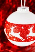 Christmas Decoration With Deer Ornament