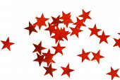 Holiday Decoration With Christmas Red Stars