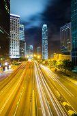 Hong Kong Admiralty Skyline at night