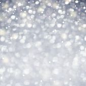 Silver Celebration Abstract Background -  Glittering magic light and Stars Sparkles