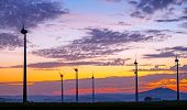 Wind engines at dawn