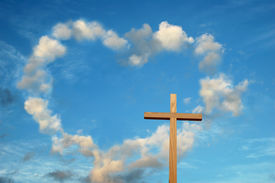 foto of christian cross  - Love and the cross meet to change History - JPG
