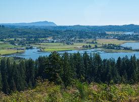 foto of coxcomb  - A View of the Astoria Oregon Area from Coxcomb Hill the Location of the Astoria Column - JPG
