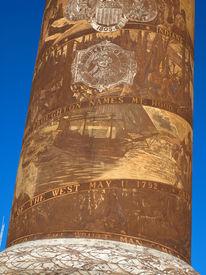 pic of coxcomb  - The Astoria Column in Astoria Oregon USA - JPG