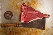 picture of t-bone steak  - beef steak t - JPG